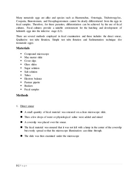 egg drop lab report template fecal examination lab report