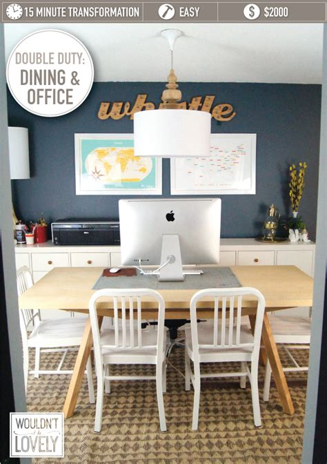 dual purpose rooms dining room  office wouldnt