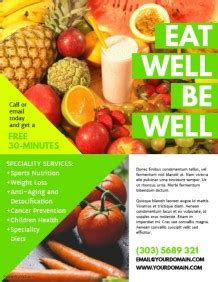 flyer template nutrition customizable design templates for nutrition postermywall