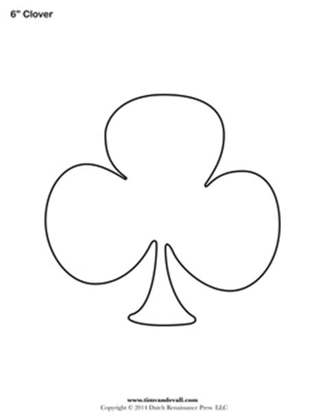 blank clover templates printable shamrock clubs template