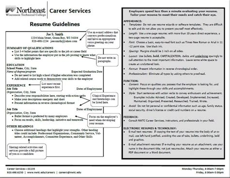 E Resume Guidelines by Resume Guidelines Resume Cover Letter