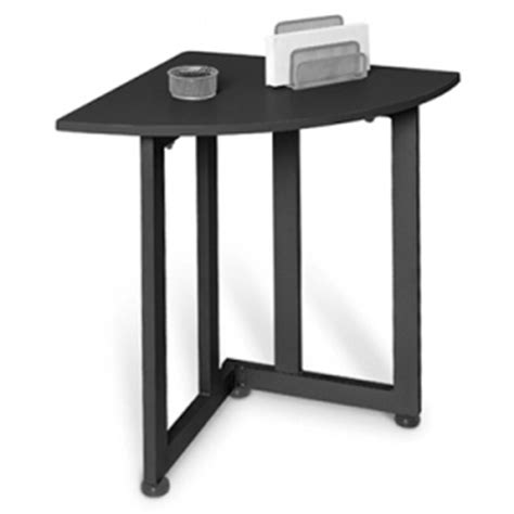 Small Corner Table by Best Graphite Quarter Table Small Corner Table
