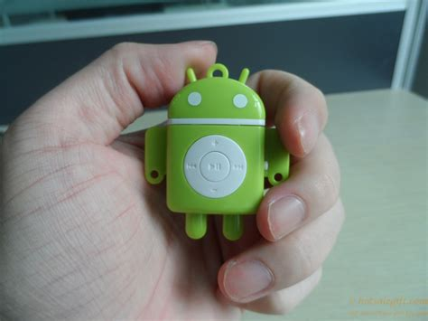 Android Robot Mp3 Player Tf Card With Small Clip mini android robot shape mp3 player supporting tf 16 gb card sale gift