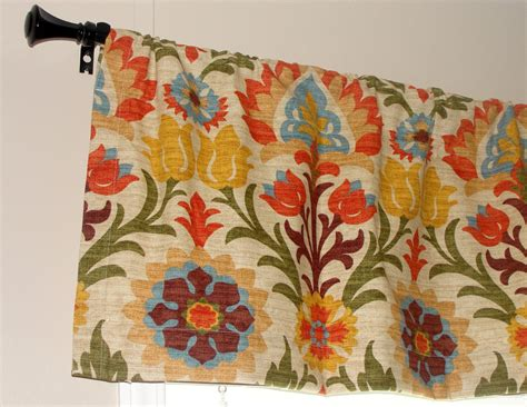 Red And Blue Valance Waverly Santa Maria Adobe Designer Valance 50 Wide X
