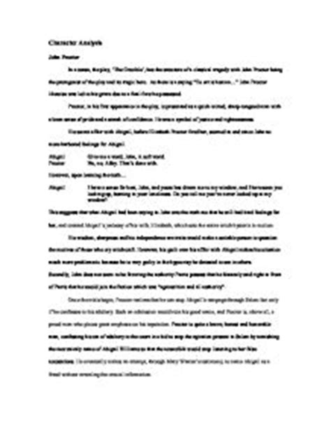 Proctor Character Analysis Essay by Proctor Character Analysis Essay Order Custom Essay