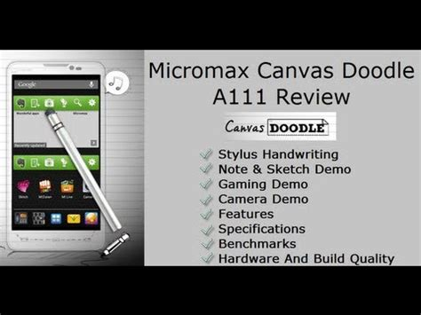 how to use stylus in micromax doodle micromax canvas doodle a111 review stylus features and