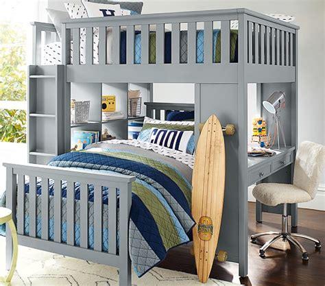 pottery barn kids bunk bed elliott full loft system twin bed set pottery barn kids