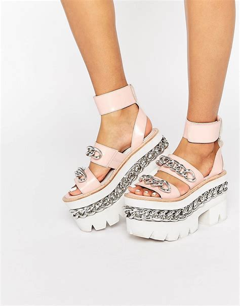 jeffrey cbell chain chunky platform leather sandals pink calf womencheapest jeffery west shoessale uk p 845 jeffrey cbell chain chunky platform leather sandals