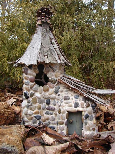 cutest miniature stone houses  beautify garden