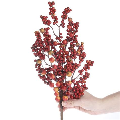 fall artificial berry spray pip berries primitive decor