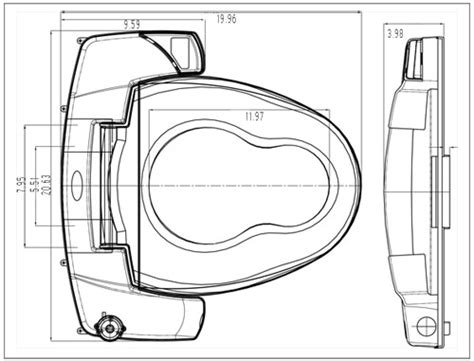 Bidet Dimensions by Premium I3000 Bidet Seat From Bio Bidet Reliving Mobility