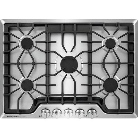 frigidaire 5 burner gas cooktop frigidaire gallery 30 in gas cooktop in stainless steel