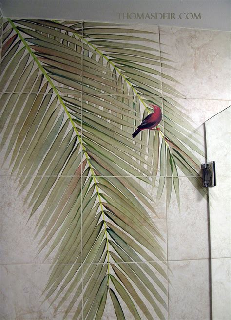 Bathroom Designs For Small Spaces Bath And Shower Designs Tile Murals With Coconut Tree