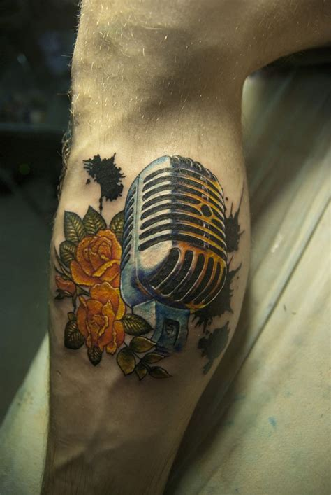 tattoo microphone and guitar 1000 ideas about microphone tattoo on pinterest music