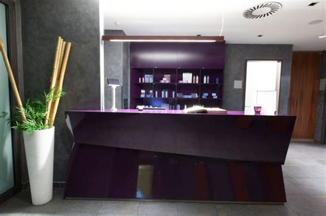 angled reception desk inspiration