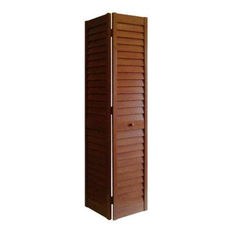 Home Depot Louvered Closet Doors Home Fashion Technologies 18 In X 80 In 3 In Louver Louver Cherry Composite Interior Bi Fold