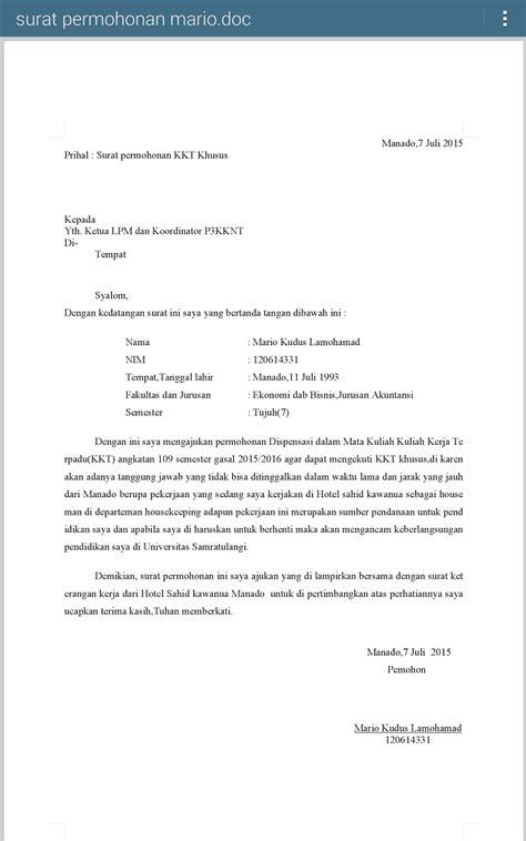 Télécharger Contoh Surat Dispensasi Kuliah Spp Kuliah Inaphan
