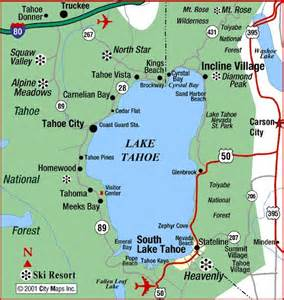 map of lake tahoe california lake tahoe ca nv places i ve been