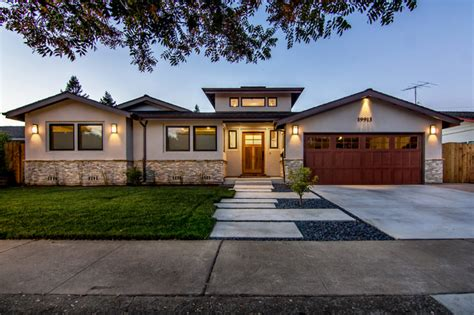 modern rancher cupertino contemporary ranch remodel transitional