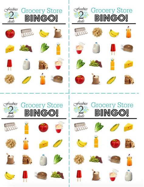 printable shopping list game woo hoo free grocery bingo printable game cards for your