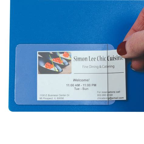 Self Adhesive Business Card Holder