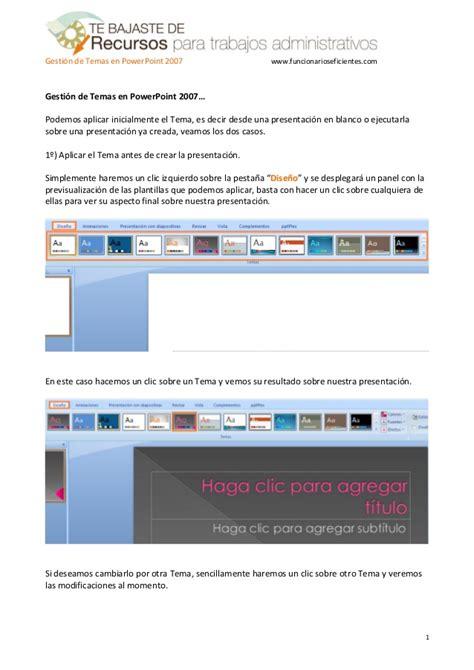 tutorial for powerpoint 2007 como gestionar plantillas o temas en powerpoint 2007
