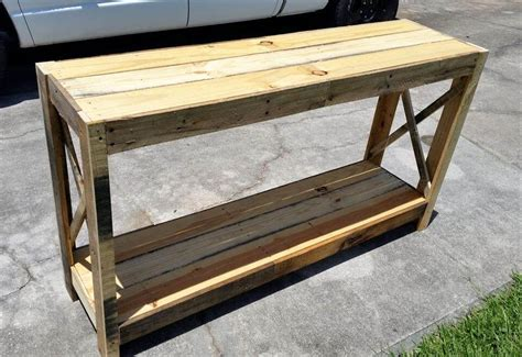 wood pallet entryway table diy  pallets