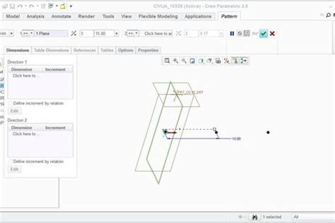 Creo Drawing Pattern Dimensions | how to make this pattern in creo grabcad