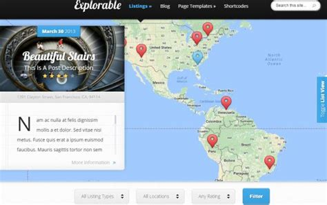 themes wordpress location explorable theme review elegant themes legit