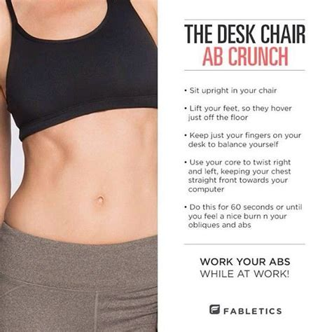 Desk Exercises For Abs by Pin By Jocelyn Wherry On Getting Right For