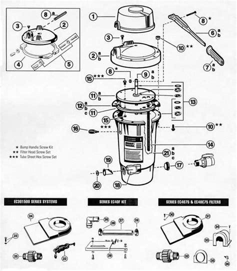 hayward pool parts diagram hayward perflex filter parts ec30 filter parts