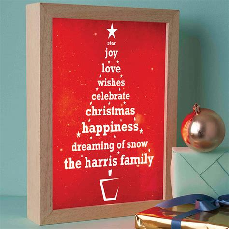 personalised christmas tree light box by spin collective