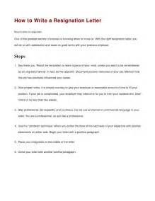 How To Prepare A Letter Of Resignation by Resignation Letter Format Use How Do You Write A Letter