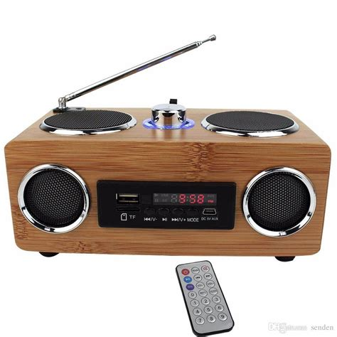 Handcrafted Radio - 2017 multifunctional handmade bamboo portable speaker mini