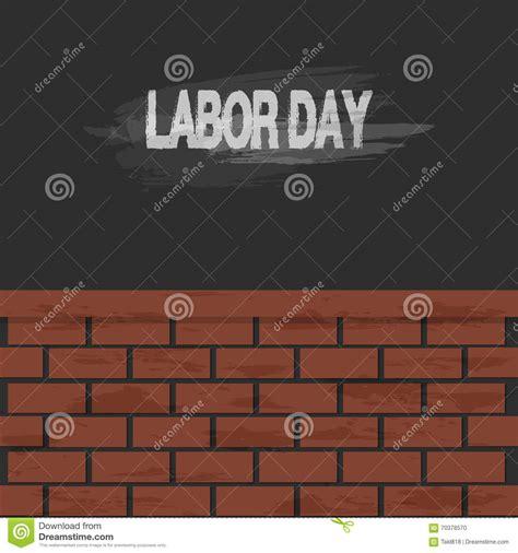 mattoni testo fondo testo e muro di mattoni di festa lavoro
