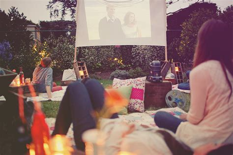 backyard movie party 10 bachelorette party ideas