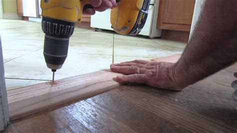 how to install a threshold for an exterior door how to install an oak threshold