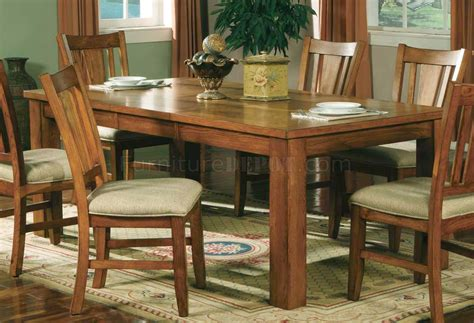Light Oak Dining Room Furniture Light Oak Finish Casual Dining Room Table W Optional Chairs