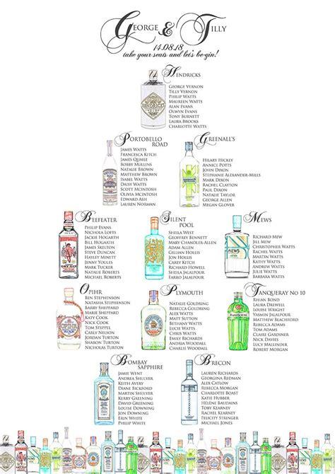 gin wedding table plan