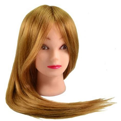 Hairstyle Doll Heads by Professional Mannequin 70 Human Hair For