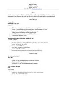 Resume Templates High School Graduate by Sle High School Senior Resume Resume Sle High School Graduate Everyday Help