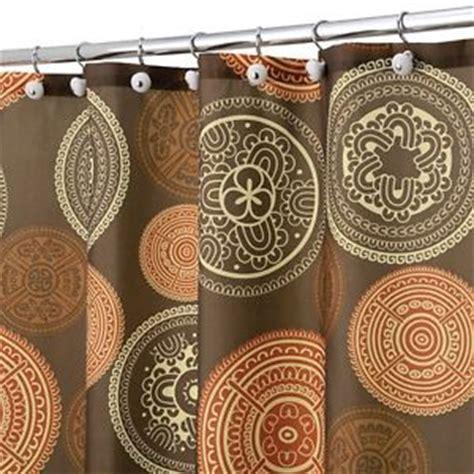 orange brown shower curtain shower curtain bazaar medallion brown orange spice