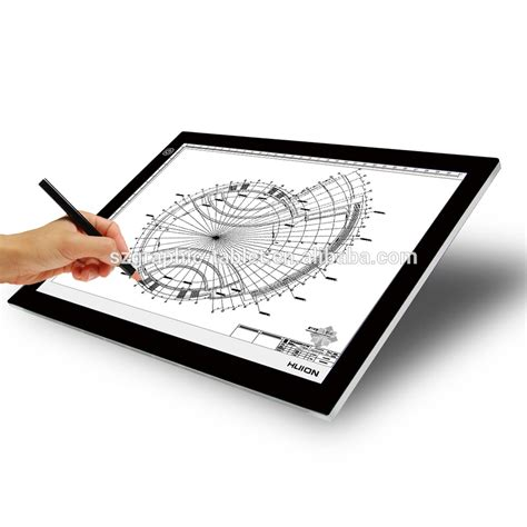 huion a3 led light box ultra thin translucent drawing