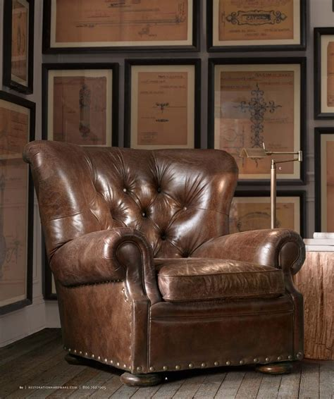 Restoration Hardware Recliner Churchill Leather Can Swivel Or Recline Leather