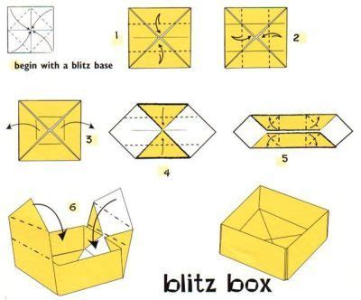 How To Make Box Of Paper - origami box printable 1 arts and crafts