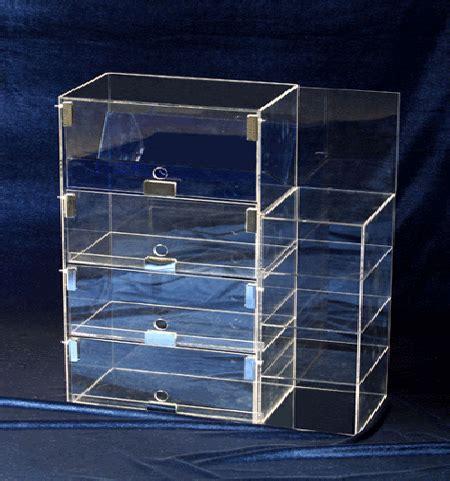 Custom Clear Rectangle Acrylic Display Cabinet Pmma Display Box   HY ADC001   Haoya (China