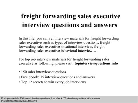 Sales Agent Resume Sample by Freight Forwarding Sales Executive Interview Questions And