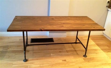 Pipe Dining Table Diy Pipe Wood Dining Table Home Renovation Diy