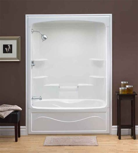 one piece bathtub and shower mirolin liberty 60 inch 1 piece acrylic tub and shower