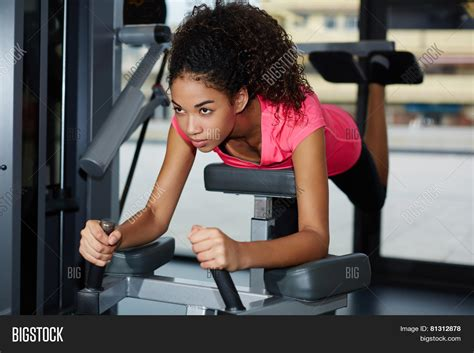 afro hairstyles for gym attractive fit girl curly afro hair image photo bigstock